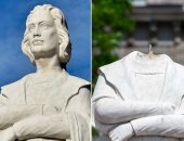 بعد كريستوفر كولومبوس.. محتجون يسقطون تمثالا آخر يرمز للعبودية بأمريكا