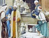 """100 لوحة عالمية .. """"بائع الفخار"""" فنان إيطالى يخلد صناعة مصرية"""