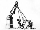 """بانكسى يقترح فكرة للتعامل مع تمثال تاجر الرقيق كولستون بجرافيتى جديد """"صورة"""""""