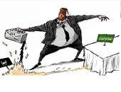 كاريكاتير صحيفة سعودية.. الديكتاتور العثمانى يصر على حرق ليبيا
