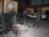 حملة نظافة بمدينة الأقصر تنجح فى رفع 45 طن قمامة ومخلفات صلبة