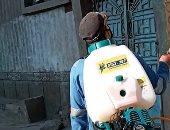 شباب قرية شبلنجة فى القليوبية يواجهون فيروس كورونا بتعقيم الشوارع والمنازل