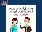 """انفوجراف .. وسائل """"التعلم عن بعد"""" استعدادا للعام الدراسى 2020 / 2021"""