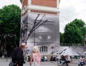 فنان فرنسى يصمم جدارية ضخمة لضحايا العنصرية جورج فلويد وأداما تراورى
