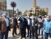 محافظ القاهرة يوجه بتوحيد لافتات محلات القاهرة الخديوية.. صور