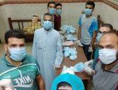 توزيع مطهرات وكمامات وأجهزة تنفس بجهود ذاتية من أهالى قرية الشيخ بالمنيا