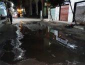 شكوى من غرق شارع أشرف مرجان بمياه الصرف الصحى فى المنصورة