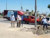 """توسيع طريق """"بلبيس- العاشر من رمضان"""" ورفع الأتربة منه لتفادى الحوادث"""