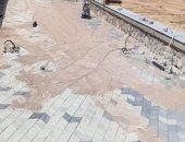 استمرار أعمال التشييد والبناء فى كورنيش الطور بجنوب سيناء