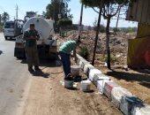 رفع المخلفات ورش الشوارع بمدينة القنايات لمواجهة فيروس كورونا