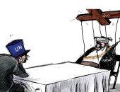 كاريكاتير صحيفة سعودية.. الحوثيون لعبة فى يد الإيرانيين