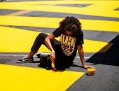 """""""حياة السود مهمة"""".. بأحرف صفراء كبيرة فى نيويورك للتنديد بالعنصرية"""