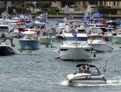 أنصار ترامب يحتفلون بعيد ميلاده الـ74 بمسيرة يخوت فى فلوريدا.. صور