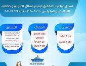 قناة السويس تعلن المواعيد الجديدة لعمل المعديات والكبارى العائمة والأنفاق