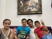 """مصطفى شوبير يزور أسرة الشهيد المنسى ويعلق: """"أحلى أيام حياتى"""""""