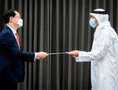 محمد بن زايد يتلقى رسالة خطية من رئيس كوريا الجنوبية