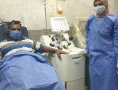 مواطن أسوانى يتبرع للمرة الثانية ببلازما الدم بعد تعافيه من كورونا
