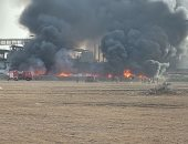 فيديو وصور.. حريق هائل فى مقلب قمامة بجوار شركة للزيوت والصابون بالغربية