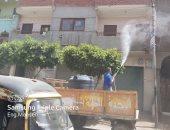تطهير وتعقيم 4 قرى بمركز الزقازيق بالشرقية لمواجهة فيروس كورونا