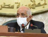 رئيس البرلمان مازحا نائب: اعدل الكمامة لاحسن يقولوا نواب أسوان مش عارفين يلبسوها
