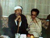العلم والإيمان.. فى ذكرى رحيل الشعراوى قصة صورة جمعته مع الدكتور مصطفى محمود
