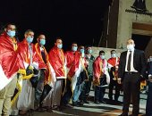 فرحة عارمة لأهالى محافظة بنى سويف بوصول العائدين من ليبيا