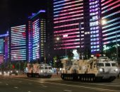 """بروفات ضخمة لعرض """"عيد النصر"""" العسكرى فى شوارع روسيا"""