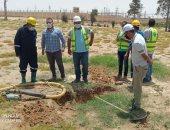 شركة مياه سيناء : وقف التعدى على الخطوط الناقلة بالشريط الساحلى