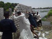 """""""حماية النيل"""" بالأقصر تنجح فى إزالة 74 تعدي على حرم النهر خلال يونيو الجارى"""
