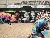 طولها 80 مترا.. فنانون فى السنغال يرسمون جدارية لدعم السود فى دكار