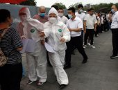فيديو.. موقع فحص جماعى لفيروس كوفيد-19 فى الصين