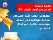 الصحة: ملعقة عسل أبيض على كوب ماء ترفع المناعة للحماية من كورونا