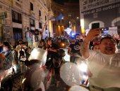 جماهير نابولى تتحدى كورونا وتحتفل بالشوارع بعد الفوز بكأس إيطاليا من يوفنتوس