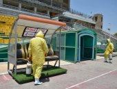 المقاولون يكثف عمليات التعقيم في استاد عثمان أحمد عثمان استعداداً للدوري