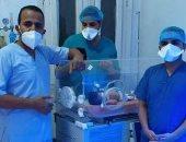 نجاح أول عملية ولادة لحاله مشتبه بإصابتها بكورونا بمستشفى مطاى بالمنيا