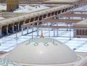 فتح تدريجى لسطح المسجد النبوى تجنبا لتزاحم المصلين
