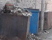شكوى من تواجد صناديق القمامة بمدخل شارع المصنع قرية كوم حمادة بالبحيرة