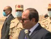 شاهد.. تفقد الرئيس السيسى لتجهيزات القوات المسلحة للعزل الصحى بأرض المعارض