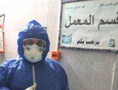 """الجيش الأبيض.. أحمد """"كيميائى"""" على خط مواجهة كورونا بمستشفي الصدر بالدقهلية"""
