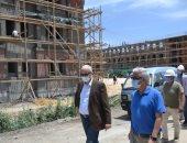 رئيس جامعة الإسكندرية يتفقد إنشاء مجمع الكليات بأبيس .. صور