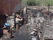 اندلاع حريق هائل فى 7 منازل  بقطور  والحماية المدنية تدفع بسيارات الإطفاء