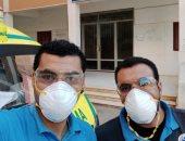 """الجيش الأبيض.. """"أحمد"""" و """"رضا"""" بإسعاف كفر الشيخ فى مواجهة فيروس كورونا"""