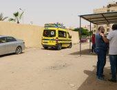 إصابة 10 عمال فى انقلاب سيارة نصف نقل بمنشأة القناطر