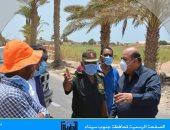 سكرتير عام جنوب سيناء يتفقد موقف تنفيذ بعض المشروعات التنموية بطور سيناء