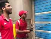 أهالى قرية الرملية بالغربية يطهرون الشوارع ضد فيروس كورونا