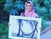 """""""اسماء"""".. تشارك برسومات فنية وبورتريهات تبرز موهبتها الفنية.. صور"""