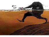 كاريكاتير صحيفة سعودية.. اللص التركى يسعى لسرقة خيرات مدينة سرت الليبية