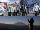 """صور.. العالم هذا المساء.. بوتين يزور يضع أكليل زهور على نصب """"أمهات المنتصرين"""".. رئيسة تايوان تدشن أول طائرة تدريب """"مقاتلة"""" محلية الصنع.. شعب إيمارا يحتفلون بالعام الجديد وفق طقوسهم الخاصة فى بوليفيا"""