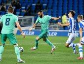 كل أهداف الأحد.. ريال مدريد يستعيد الصدارة بثنائية في سوسيداد
