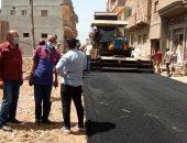 رئيس مدينة المحلة الكبرى يكشف أعمال الخطة الاستثماريه للرصف.. صور